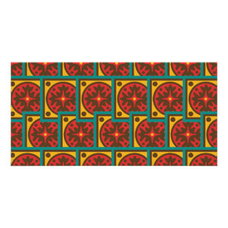 Tapestry pattern personalised photo card