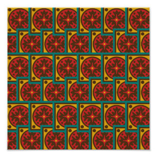 Tapestry pattern poster
