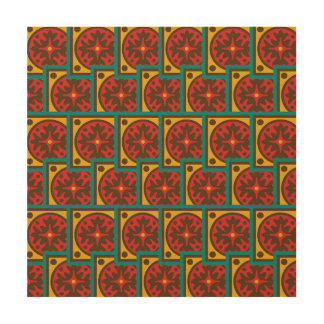 Tapestry pattern wood prints