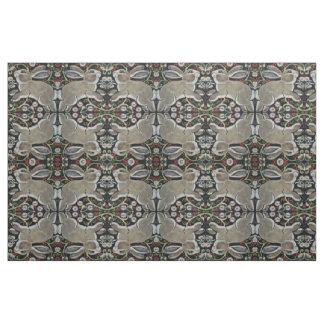 Tapestry Style Gray Rabbit Fabric Christmas Winter