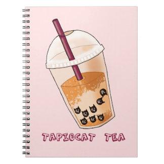Tapiocat Tea Pun Illustration Notebook