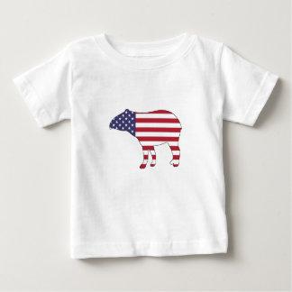 """Tapir """"American Flag"""" Baby T-Shirt"""