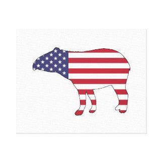 "Tapir ""American Flag"" Canvas Print"