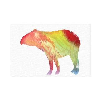 Tapir art canvas print