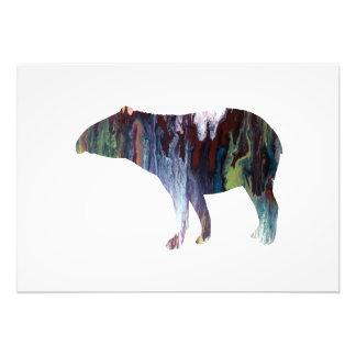 Tapir art photo print