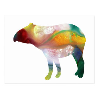 Tapir art postcard