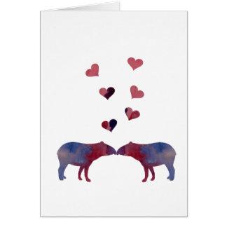 Tapir couple card