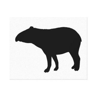 Tapir silhouette canvas print