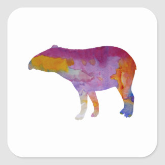 Tapir Square Sticker