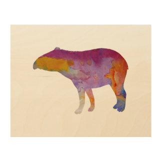 Tapir Wood Print