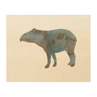 Tapir Wood Wall Art