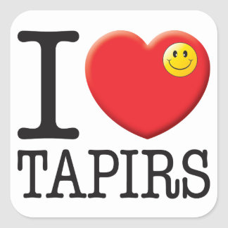 Tapirs Love Square Sticker