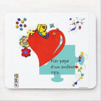Tapis de souris Fier papa d'un enfant TED Mouse Pad
