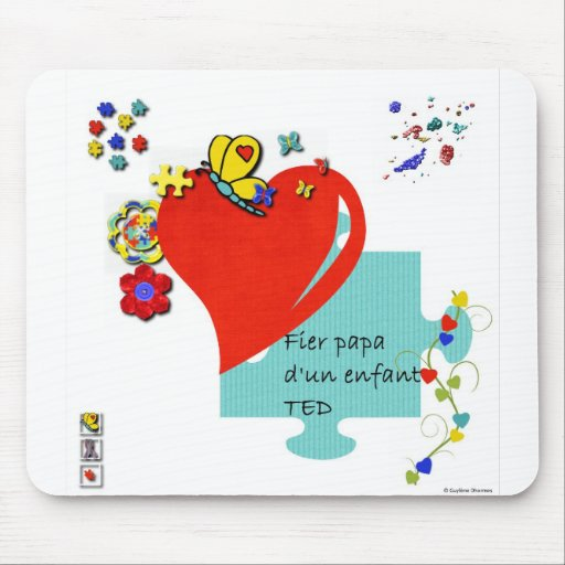 Tapis de souris Fier papa d'un enfant TED Mousepad
