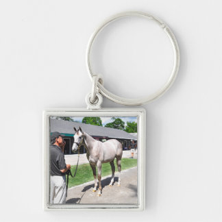 Tapit -Rote at Fasig Tipton Silver-Colored Square Key Ring