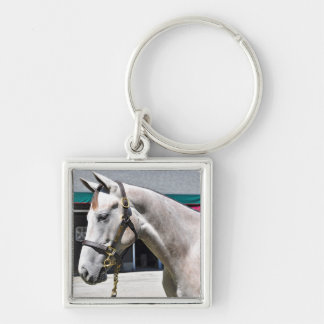 Tapit-Rote Fasig Tipton Silver-Colored Square Key Ring