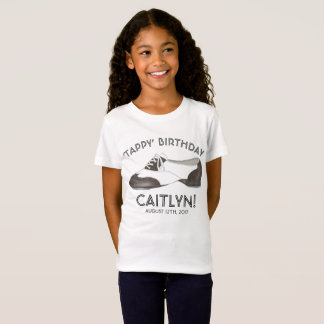 Tappy Happy Birthday Personalized Tap Dance Party T-Shirt