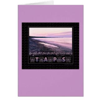 Taps Memorial Greeting Card