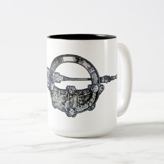 Tara Brooch, Ireland, Irish Heritage Two-Tone Coffee Mug