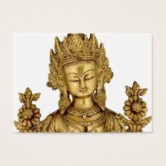 Tara Buddha Buddhist Goddess Yoga Tibet Art Peace Business Card