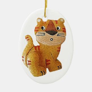 Tara Tiger Ceramic Ornament