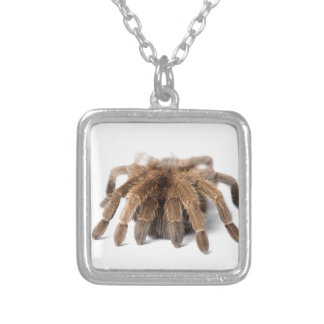 Tarantula Fuzzy Spider Silver Plated Necklace