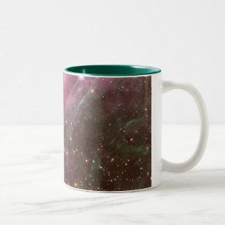 tarantula nebula Two-Tone coffee mug