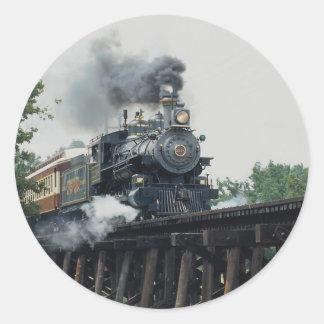 Tarantula Railroad, Fort Worth, Texas, U.S.A. Round Sticker