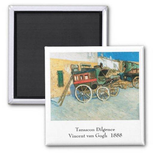 Tarascon Dilgence by Vincent van Gogh Magnets
