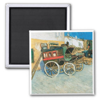 Tarascon Dilgence by Vincent van Gogh Square Magnet