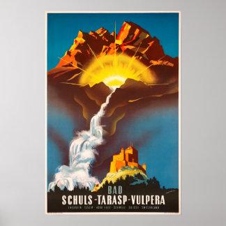 Tarasp,Switzerland, Travel Poster