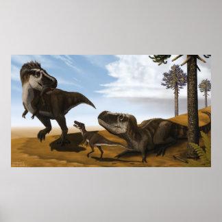 Tarbosaurus Poster