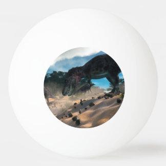 Tarbosaurusnext to liban cedar forest ping pong ball
