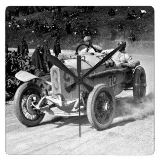 TARGA FLORIO 1922 SQUARE WALL CLOCK