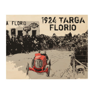 TARGA FLORIO RACE WOOD WALL DECOR