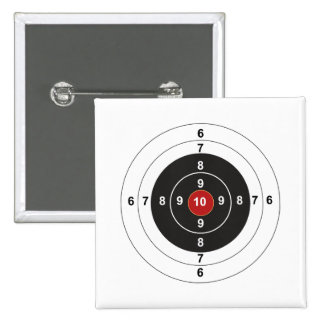 Target 15 Cm Square Badge