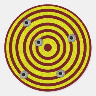 Target 3 classic round sticker