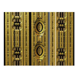Target Abstrct 3D fractal Postcards
