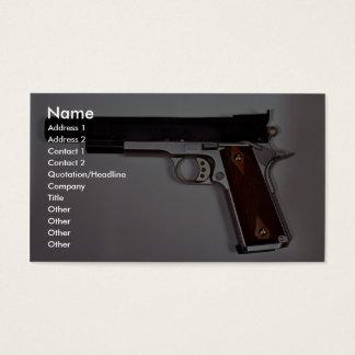 Target air pistol business card