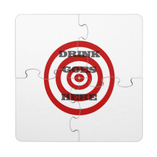 Target Bullseye Puzzle Coaster