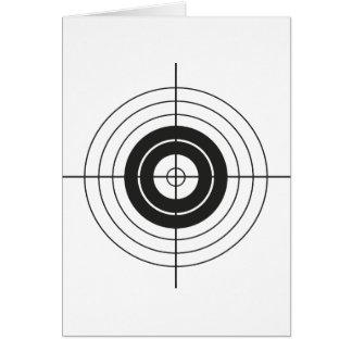 target circle design round mark card