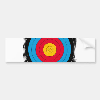 Target Face Bumper Sticker