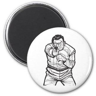 Target Practice 6 Cm Round Magnet