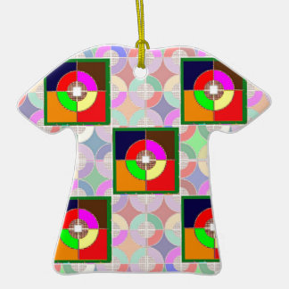 TARGET Practice: Colorful Graphic Symbol Gifts FUN Christmas Ornament