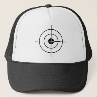 Target practice hat with crosshairs
