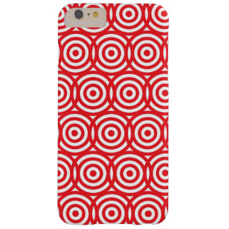 Target Practice Red and White Bull's Eye Pattern Barely There iPhone 6 Plus Case