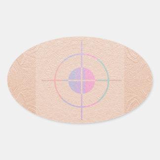 TARGET Practice : Sparkle Embossed Silken Oval Sticker