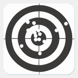 Target Practice Square Sticker
