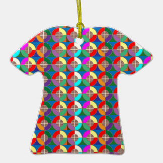 TARGET Practice Symbol Graphic Colorful ART Gifts Double-Sided T-Shirt Ceramic Christmas Ornament