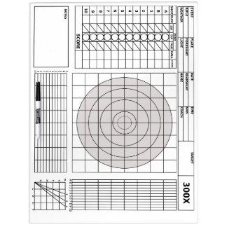Target Rifle Scorecard Dry Erase Boards